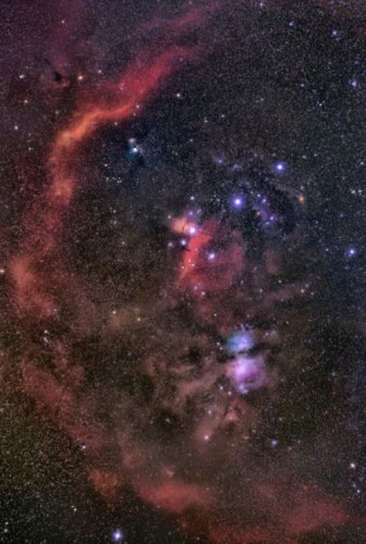 Barnard's Loop(Sh2_726)_Horsehead Nebula_Great Orion Nebula_Running Man Nebula2